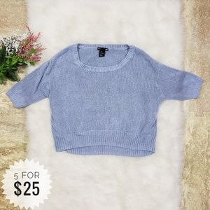 H&M Crop Top Sweater Blue Size Small